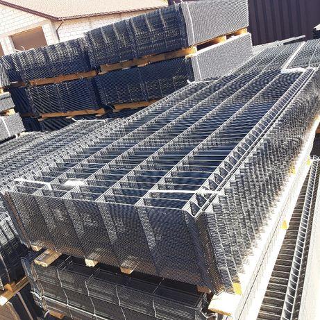 PROMOCJA panele ogrodzeniowe GRAFIT 1,53m x 2,5m grubość 4mm i 5mm