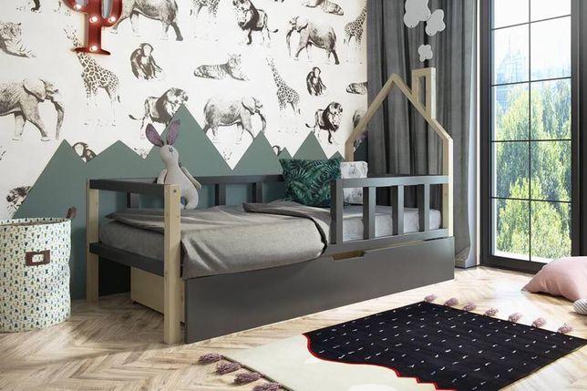 Piękne drewniane łóżko dla dzieci Borys! Materac gratis!