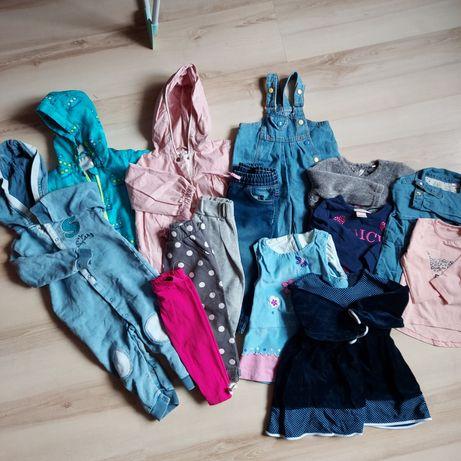 Paka ubranek dla dziewczynki 80