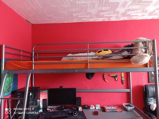 Łóżko z biurkiem IKEA