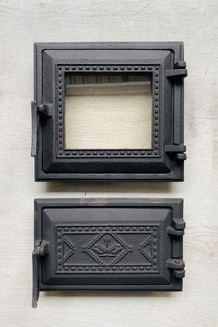 Дверца для печи и барбекю 265х250мм, печная дверца со стеклом 1002К