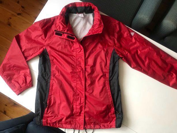 Hickory kurtka przeciwdeszczowa z kapturem czerwona czarna 40
