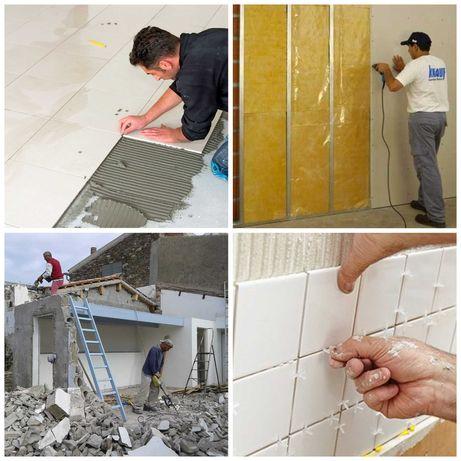 Remodelações gerais Trolha, Pedreiro, Pinturas, Pladur Capoto telhados
