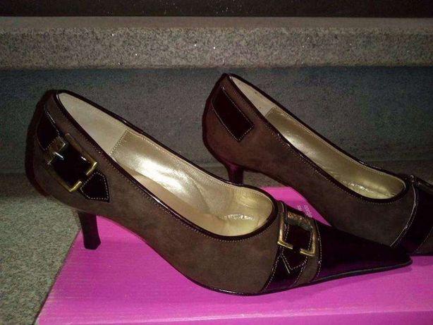 Sapatos Pele Genuína Novos Alta Qualidade Castanhos Moda