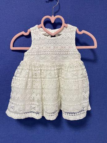 Кружевное платье Children's place, подойдет для крестин, 3-6м