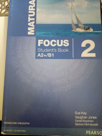 Matura Fokus 2, students book + workbook +cd. Pearson