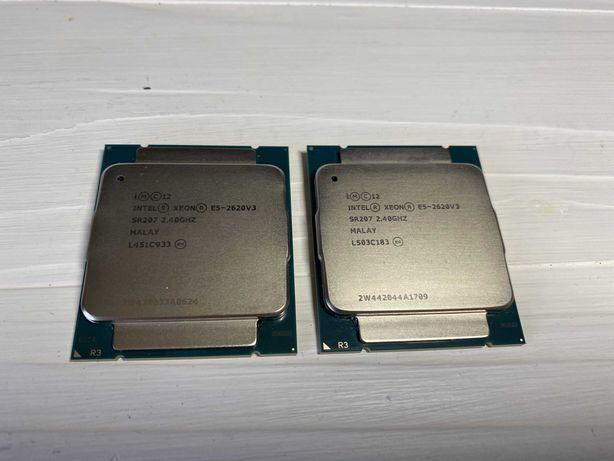 Процессор Intel Xeon E5-2620v3 (6 ядер, 12 потоков) ЦЕНА ЗА ПАРУ