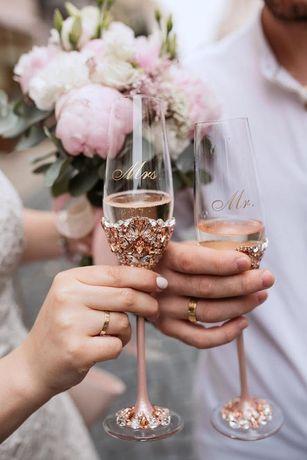 Kieliszki ślub, przyjęcie, wesele