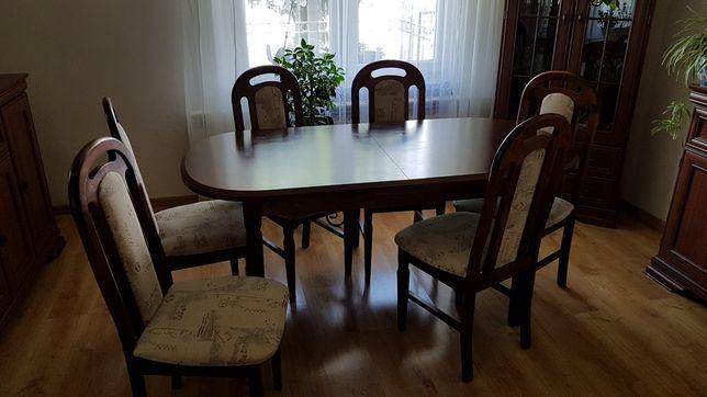 Stół do salonu z krzesłami komplet