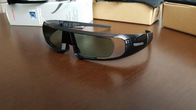 Okulary 3D ! Aktywne ! TOSHIBA FPT-AG02G. 3 szt. WYSYŁKA GRATIS