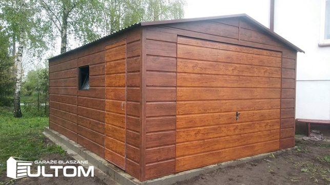 Garaż drewnopodobny SZEROKI POZIOMY PANEL na ścianach garaże 4x5 4x6