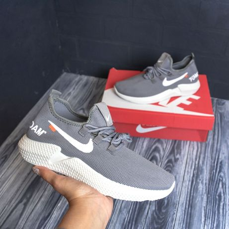 3164 Nike Foam мокасины кроссовки серые летние мужские сетка сірі Найк