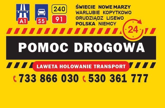 POMOC DROGOWA 24h AutoLaweta ŚWIECIE - A1 S5 DK240 E91
