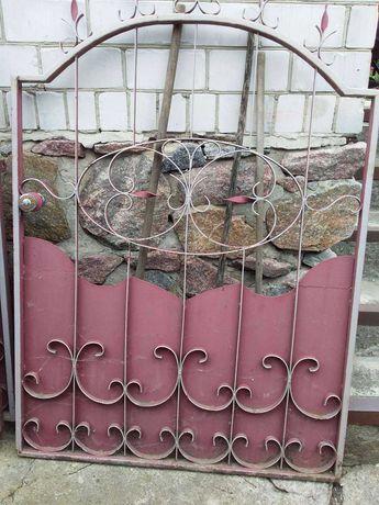 Ковані ворота+хвіртка