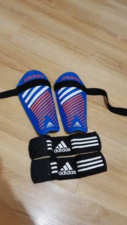 Ochraniacze Adidas predator + ściągacze na kostki Adidas