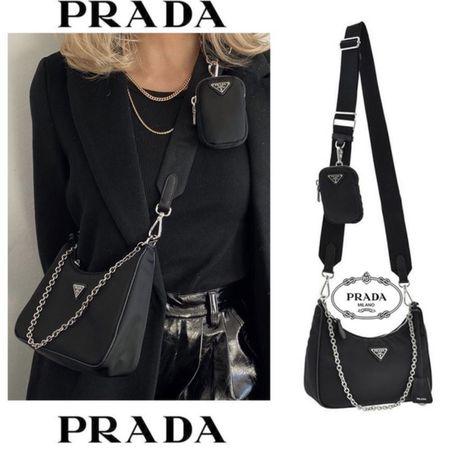 Czarna nerka PRADA ! Torebka torba przez ramię ! Louis Vuitton Gucci