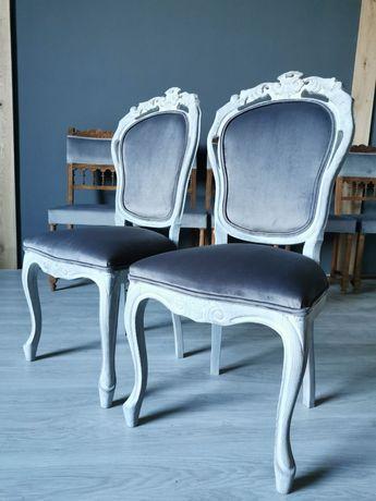 Klasyczne krzesła ludwikowskie