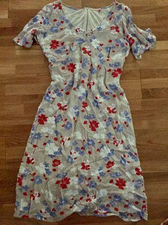 Sukienka marks and spencer beżowa kwiaty elegancka 40 L