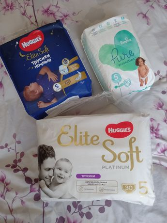 Huggies Pampers elite soft подгузники підгузники трусики памперс