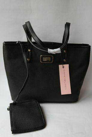 Женская сумка Bandolino чёрная чорна на плечо большая средняя плечевая