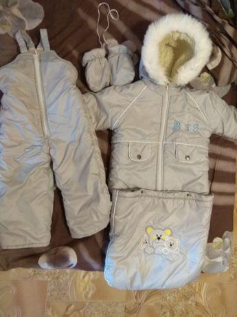 Зимний комплект: Комбинезон + куртка