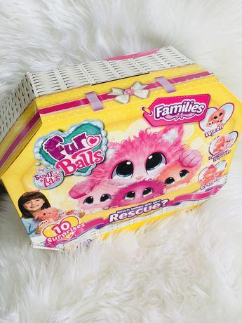 Pluszaki Fur Balls Families 10 niespodzianek mega zestaw Okazja