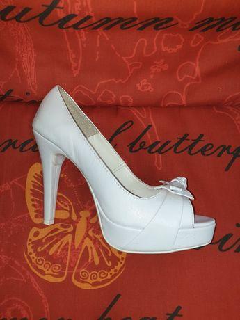 Okazja buty ślubne białe nowe 38