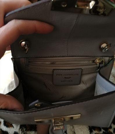 Paul COSTELLOE, сумка кожа натуральная,  светло серого цвета