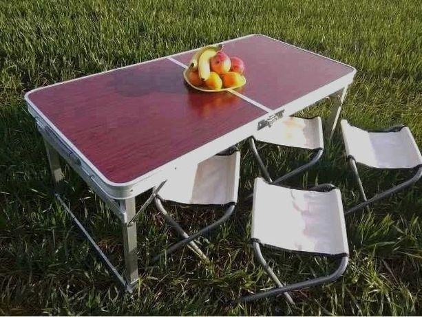 Стол Раскладной Чемодан Туристический Для пикника с 4 стульями