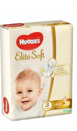 Підгузки Huggies Elite Soft розмір 3, 5-9 кг, 80 шт
