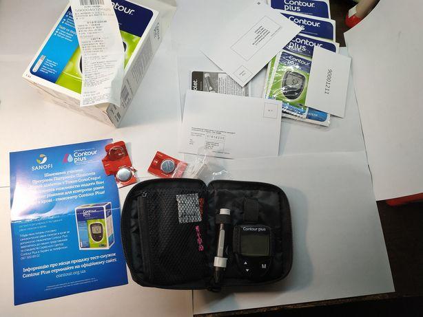 Измеритель глюкозы в крови (глюкометр) Contour plus