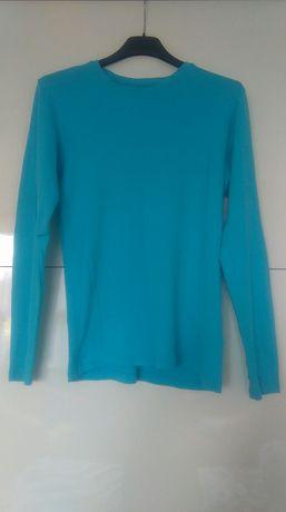 Błękitna bluzka Cubus M z długim rękawem