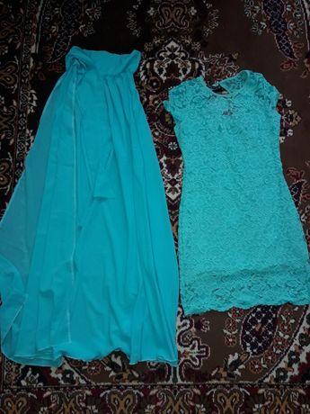 Платье женское со шлейфом