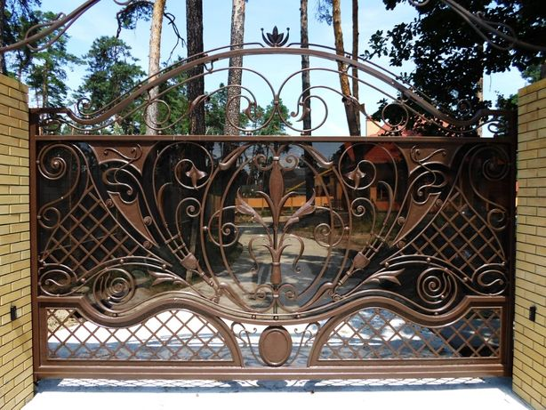 Кованые ворота калитка забор лестница перила козырек кровать стол стул