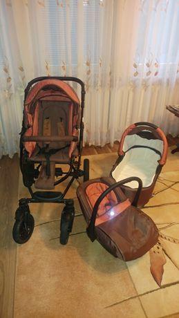 Wózek gondola wraz ze spacerówką plus nosidełko