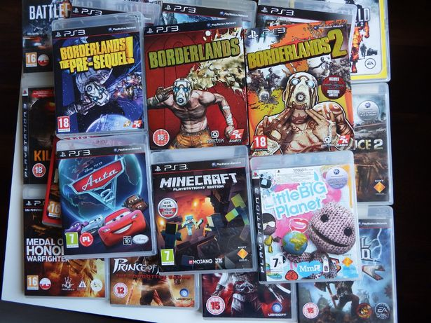 GRY PS3 MINECRAFT PL Auta 2 PL Uncharted Battlefield MEGA tytuly PS3