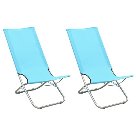 vidaXL Cadeiras de praia dobráveis 2 pcs tecido turquesa 310380