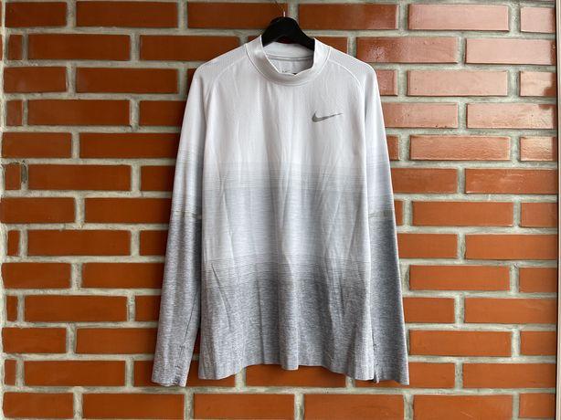Nike оригинал мужская термо кофта для бега Рашгард размер XL найк Б У