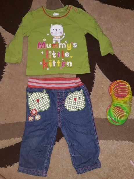 Комплект, набор джинсы и кофта , реглан