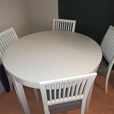 BJURSTA  Stół rozkładany, biały115/166 cm  IKEA