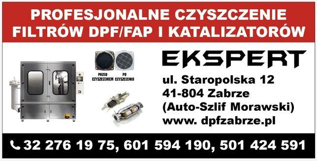 czyszczenie filtrów cząstek stałych DPF, FAP i katalizatorów