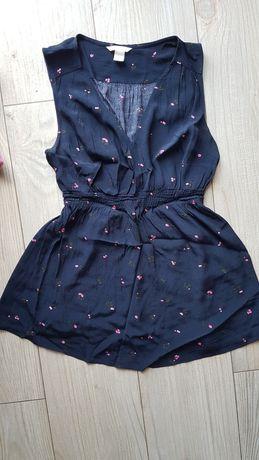 Bluzka ciążowa H&M rozmiar M letnia 2 sztuki na ramiączkach elegancka