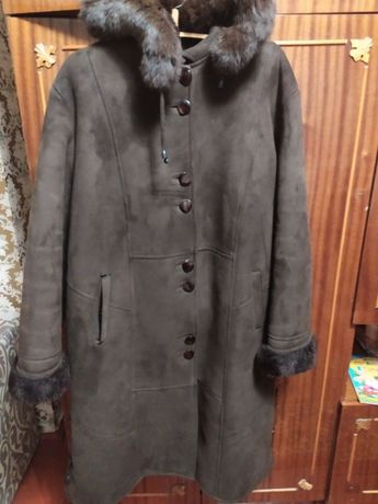 Женская дубленка дяблянка пальто куртка большого размера
