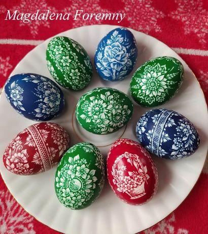 Pisanki Kraszanki Wielkanocne ręcznie drapane skrobane kurze