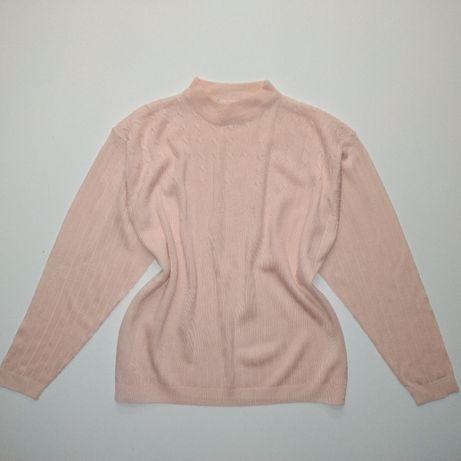 Новый персиковый пудровый свитер пуловер джемпер кофта 52 - 54 размер