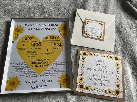 Kartka okolicznościowa na rocznicę ślubu