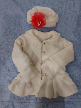 Пальто курточка нарядная на девочку