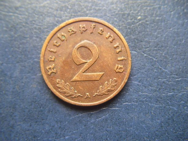 Stare monety 2 reichsfenigi 1938 A Niemcy / 4