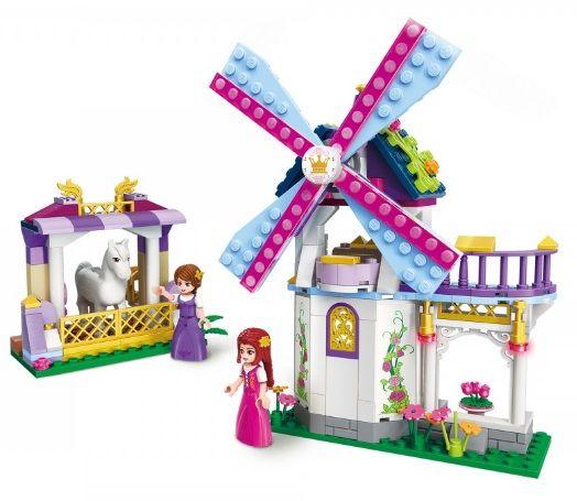 Конструктор для девочек принцессы Qman (Brick) 2604  Радужная мельница