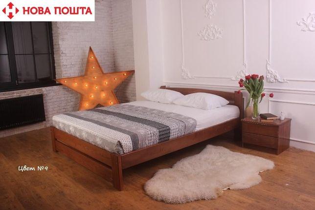 ЭКО Кровать двухспальная Деревянная 140х200 Натуральная